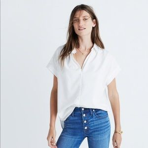Madewell Tops - Madewell | Central Drapey Shirt, White, M